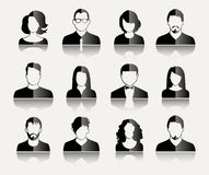 User Icons. And People Icons in flat modern style. Vector illustration Royalty Free Stock Image