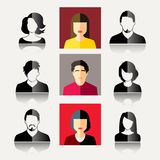 User Icons. And People Icons in flat modern style. Vector illustration Stock Image