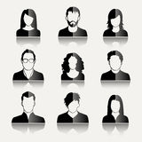 User Icons. And People Icons in flat modern style. Vector illustration Stock Photos