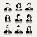 User Icons. And People Icons in flat modern style. Vector illustration Stock Photography