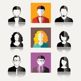 User Icons. And People Icons in flat modern style. Vector illustration Royalty Free Stock Photo