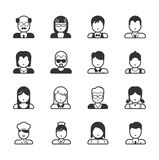 User Icons and People Icons Stock Photo