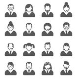User icons. And People Icons with White Background stock illustration