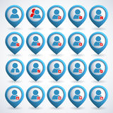 User icons set Royalty Free Stock Image