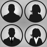 User icons set Royalty Free Stock Image