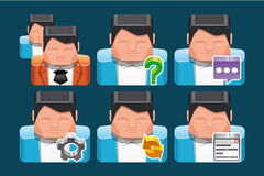 User icons Royalty Free Stock Photo