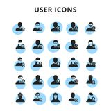 User icons set. For web design and application interface, also useful for infographics. Vector illustration royalty free illustration