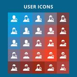 User Icons. For web design and application interface, also useful for infographics. Vector illustration royalty free illustration