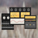 User interface audio template, with analog system devices. Royalty Free Stock Images