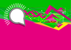 User Interface concept in Green and Fuchsia with Abstract Waves. Editable Clip Art. Stock Photo