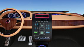 User interface demonstration of electric car's console stock video