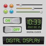 User interface design elements vector illustration