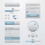 User interface design elements template kit. For A. User interface Application design elements template kit. For Adaptive apps. Flat 3D UI Royalty Free Stock Photography