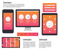 User Interface on digital Devices,tablet, mobile, PC computer. Royalty Free Stock Images