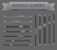 User interface elements Stock Image