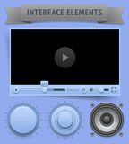 User interface elements Royalty Free Stock Photos