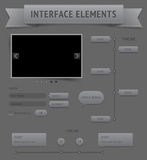 User interface elements Royalty Free Stock Photo