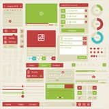 User interface flat design elements Stock Photo