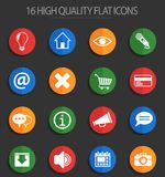 User interface 16 flat icons. User interface web icons for user interface design Vector Illustration
