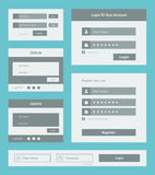 User interface form set Royalty Free Stock Images