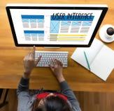 USER INTERFACE Global Address Browser Internet Website Design So. Ftware Media WWW Domain HTML Innovation Technology Homepage stock image