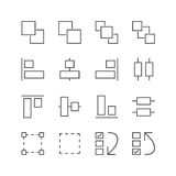 User Interface & Graphic Elements Icons - Vector illustration , Line icons set Stock Image