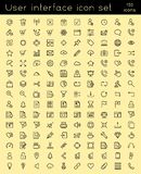 User interface icon set. User interface icons designed in a linear style Royalty Free Stock Photos
