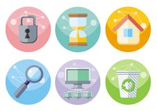 User interface icons set isolated on white Royalty Free Stock Photos