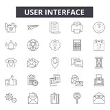 User interface line icons, signs, vector set, linear concept, outline illustration royalty free illustration