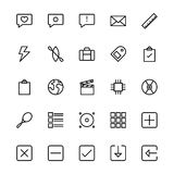 User Interface Line Vector Icons 6 Royalty Free Stock Images