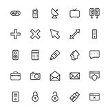 User Interface Line Vector Icons 18 Royalty Free Stock Image