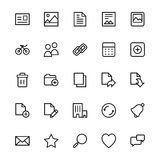 User Interface Line Vector Icons 1 Royalty Free Stock Photo