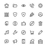 User Interface Line Vector Icons 2 Royalty Free Stock Photo