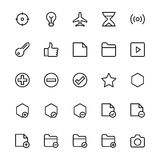 User Interface Line Vector Icons 4 Royalty Free Stock Image