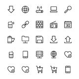 User Interface Line Vector Icons 14. A collection of User Interface Vector Icons that you can easily integrate in your design and the cool thing is, that there Stock Image