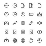 User Interface Line Vector Icons 12 Stock Photo