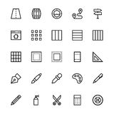 User Interface Line Vector Icons 27. A collection of User Interface Vector Icons that you can easily integrate in your design and the cool thing is, that there Royalty Free Stock Image
