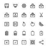 User Interface Line Vector Icons 23 Royalty Free Stock Images