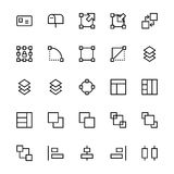 User Interface Line Vector Icons 21 Royalty Free Stock Photo