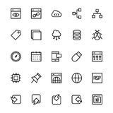 User Interface Line Vector Icons 32 Royalty Free Stock Images