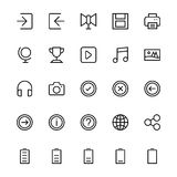 User Interface Line Vector Icons 37 Stock Photography