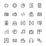 User Interface Line Vector Icons 38 Stock Photos