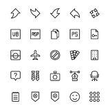 User Interface Line Vector Icons 33 Royalty Free Stock Photography