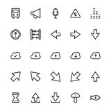 User Interface Line Vector Icons 35 Royalty Free Stock Photo