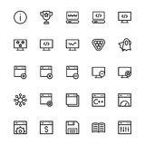 User Interface Line Vector Icons 31 Stock Photography