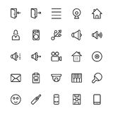 User Interface Line Vector Icons 50. A collection of User Interface Vector Icons that you can easily integrate in your design and the cool thing is, that there Royalty Free Stock Photo