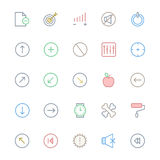 User Interface Line Vector Icons 11 Royalty Free Stock Photos