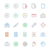 User Interface Line Vector Icons 12 Royalty Free Stock Photo