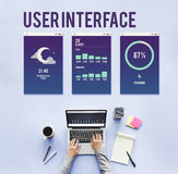 User Interface Operating System Electronic Technology Concept Stock Image