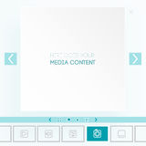 Template for placement of media content Stock Image